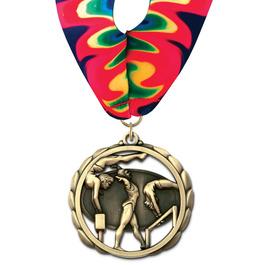 ES Gymnastics, Cheer & Dance Award Medal w/ Millennium Neck Ribbon