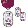 GEM Tag Gymnastics, Cheer & Dance Award Medal w/ Satin Neck Ribbon