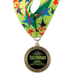 LFL Gymnastics, Cheer & Dance Award Medal w/ Millennium Neck Ribbon
