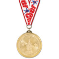 BL Gymnastics, Cheer & Dance Award Medal w/ Grosgrain Neck Ribbon