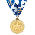 BL Gymnastics, Cheer & Dance Award Medal w/ Millennium Neck Ribbon