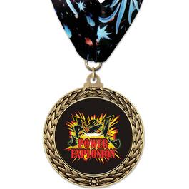 GFL Gymnastics, Cheer & Dance Award Medal w/ Millennium Neck Ribbon