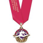 Superstar Award Medal w/ Satin Neck Ribbon