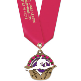 Superstar Award Medal w/ Satin Neck Ribbon