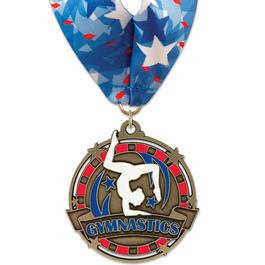 Superstar Gymnastics, Cheer & Dance Award Medal w/ Millennium Neck Ribbon
