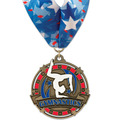 Superstar Gymnastics, Cheer & Dance Award Medal w/ Millennium Neck Ribbon