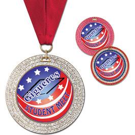 GEM Gymnastics, Cheer & Dance Award Medal w/ Grosgrain Neck Ribbon