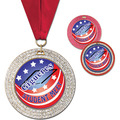 GEM Gymnastics, Cheer & Dance Award Medal w/ Grosgrain Neck Ribbon