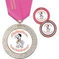 GEM Full Color Gymnastics, Cheer & Dance Award Medal w/ Satin Neck Ribbon