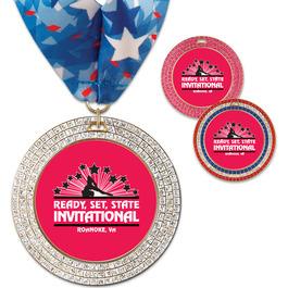 GEM Gymnastics, Cheer & Dance Award Medal w/ Millennium Neck Ribbon