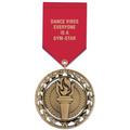 RS Gymnastics, Cheer & Dance Award Medal w/ Satin Drape