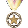 Rising Star Gymnastics, Cheer & Dance Award Medal w/ Custom Millennium Neck Ribbon