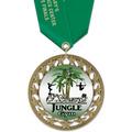 RS14 Full Color Gymnastics, Cheer & Dance Award Medal with Satin Neck Ribbon