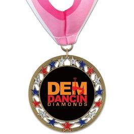 RSG Gymnastics, Cheer & Dance Award Medal with Millennium Neck Ribbon