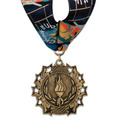 Ten Star Gymnastics, Cheer & Dance Award Medal with Millennium Neck Ribbon