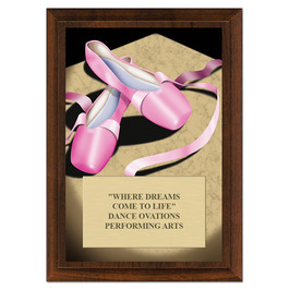 Ballet Award Plaque - Cherry Finish