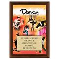 Dance Award Plaque - Cherry Finish