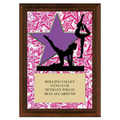 Gym Star Female Award Plaque - Cherry Finish
