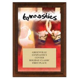 Gymnastics Award Plaque - Cherry Finish