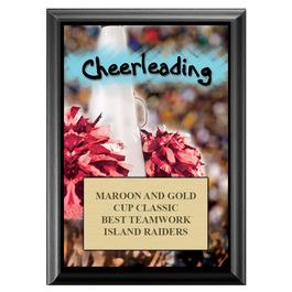 Cheerleading Award Plaque - Black