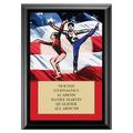 Gym Flag Award Plaque - Black