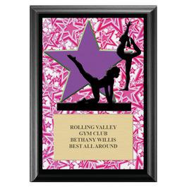 Gym Star Female Award Plaque - Black
