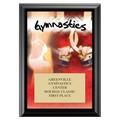 Gymnastics Award Plaque - Black