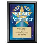 Star Performer Award Plaque - Black