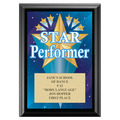 Star Performer Award Plaque - Black