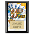 Third Place Gymnastics, Cheer & Dance Award Plaque - Black