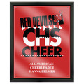 Full Color Gymnastics, Cheer & Dance Award Plaque - Black w/ Acrylic Overlay