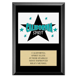 Full Color Custom Gymnastics, Cheer & Dance Award Plaque - Black