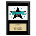 Full Color Custom Gymnastics, Cheer & Dance Award Plaque - Black