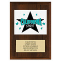 Custom Full Color Gymnastics Award Award Plaque - Cherry Finish