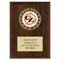 RS14 Medal Gymnastics, Cheer & Dance Award Plaque - Cherry Finish