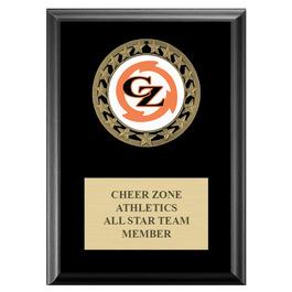RS14 Medal Gymnastics, Cheer & Dance Award Plaque - Black Finish