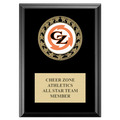 RS14 Medal Gymnastics, Cheer & Dance Award Plaque - Black Finish