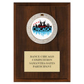 GEM Medal Gymnastics, Cheer & Dance Award Plaque - Cherry Finish