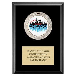 GEM Medal Gymnastics, Cheer & Dance Award Plaque - Black Finish