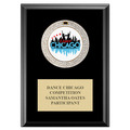 GEM Medal Gymnastics, Cheer & Dance Award Plaque - Black Finish