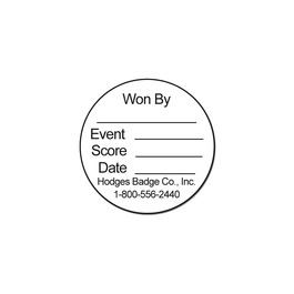 Round Stick-on Record Card for Gymnastics, Cheer & Dance Medals