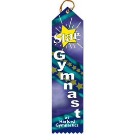 Multicolor Point Top Award Ribbon