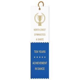 2 Layered Pinked Top Award Ribbon