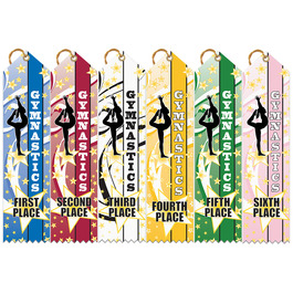 Gym Star Multicolor Point Top Award Ribbon