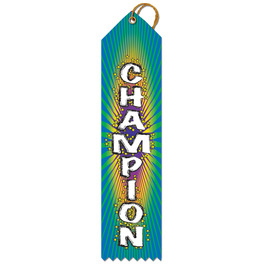 Stock Champion Multicolor Point Top Gymnastics, Cheer & Dance Award Ribbon