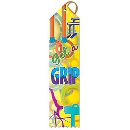 Get A Grip Gymnastics Award Ribbon