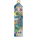 Stock Gymnastics Discipline Multicolor Point Top Award Ribbon