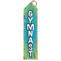 Gymnast Multicolor Point Top Award Ribbon