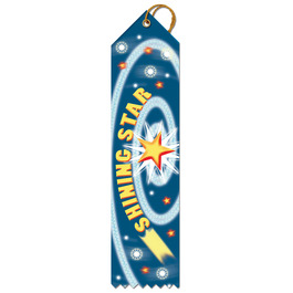 Stock Shining Star Gymnastics, Cheer & Dance Award Ribbon