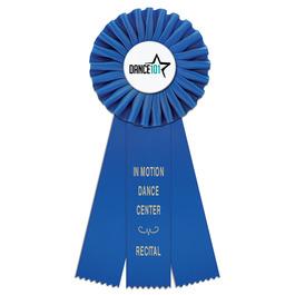 Clare Gymnastics, Cheer & Dance Rosette Award Ribbon